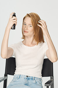 Step 1: Spritz the hair with a root lift spray